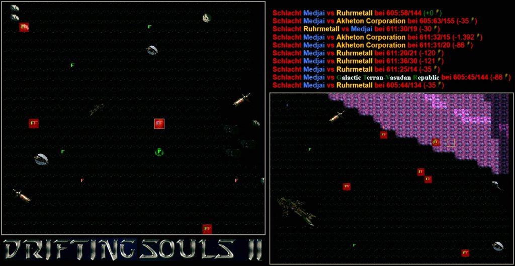 Spiele-Map mit Schlachtanzeigen